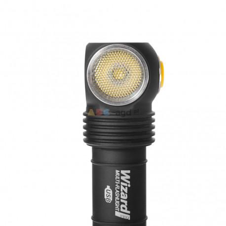 LATARKA WIZARD PRO MAGNET USB XHP50 LED 2150 LUMENS AKU