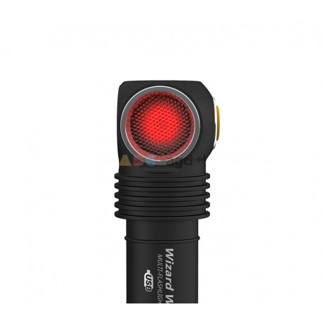 LATARKA WIZARD WR MAGNET USB WHITE RED LED 1300 LUMENS AKU