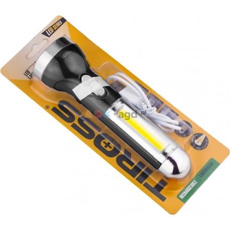 LATARKA KIESZONKOWA COB LED USB POWERBANK 1200 mAh