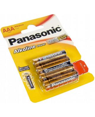 4x BATERIE ALKALICZNE PANASONIC R3 LR03 AAA