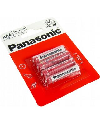 4x BATERIE Zinc-Carbon PANASONIC R3 LR03 AAA