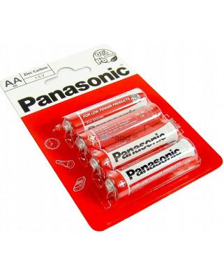 4x BATERIE Zinc-Carbon PANASONIC R6 LR06 AA