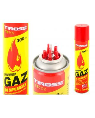 POLSKI GAZ DO ZAPALNICZEK 300 ml 5 KOŃCÓWEK PALNIK