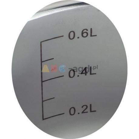 GARNEK Z POKRYWKĄ 0,8L Indukcja Gaz 3xDNO ROSSNER