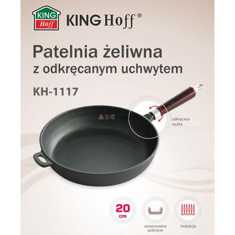 PATELNIA ŻELIWNA CIĘŻKA GŁĘBOKA 20cm INDUKCJA 1117
